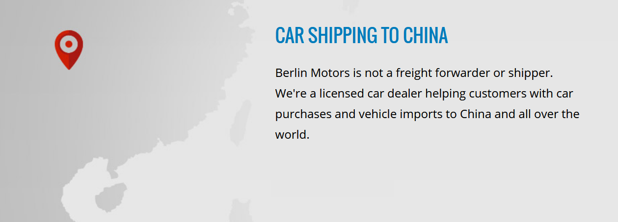 Berlin Motors Logistics Offers Complete Shipping Solutions to China